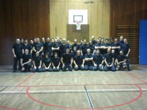 Stage de self-défense de masse organisé en janvier 2012 sous la direction de Fabrice Halopeau