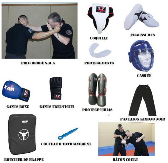 Equipement SMA self-défense